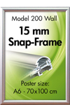 Alu Snap-Frame, Wand, 15 mm, silver anodized