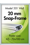 Alu Snap-Frame, wall, 20 mm, silver anodized