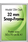 Opti Snap-Frame 32 mm - Silver