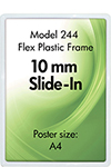 Price frame, double sided, plastic