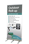 Outdoor Roll-up, doppelseitig